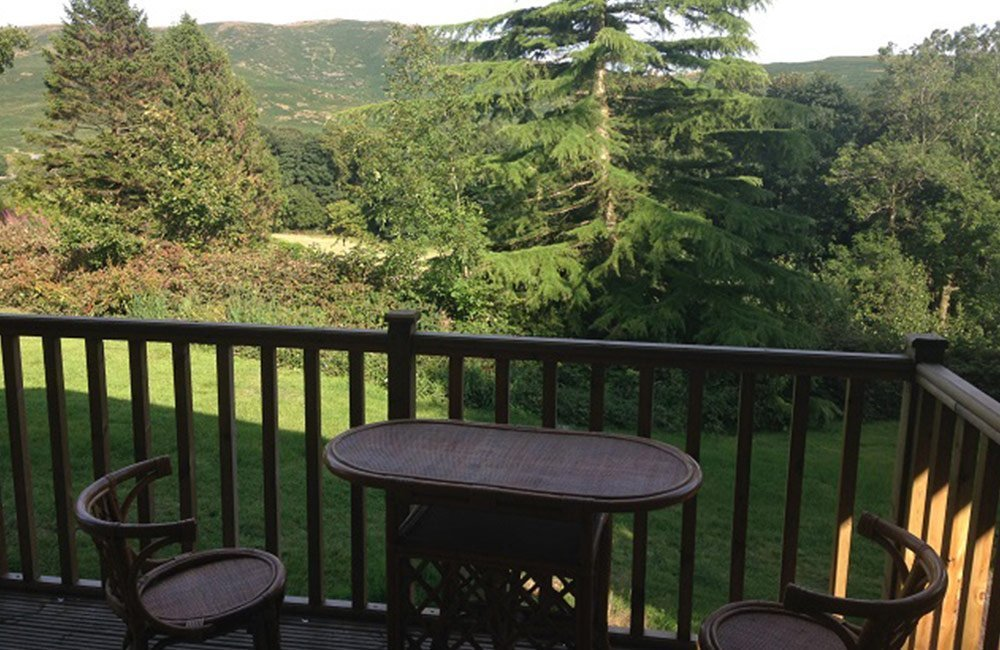 View from Log Cabin Balcony