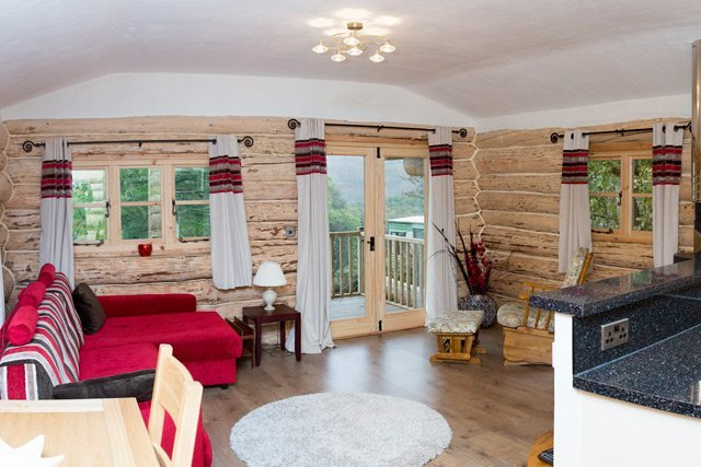 Log cabin holiday accommodation lakes